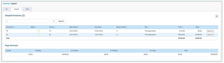 DBs Simpro invoices